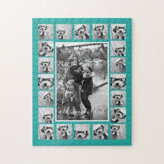 21の写真のコラージュおよび文字は-色を編集できます ジグソーパズル
