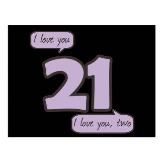 21のI愛 ポストカード