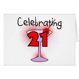 21個のTシャツおよびギフトを祝うカクテル カード