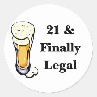 21及び最終的に法的 ラウンドシール