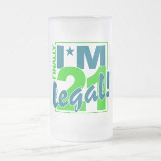 21及び法的マグ-スタイル及び色を選んで下さい フロストグラスビールジョッキ