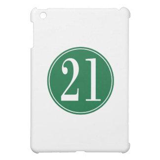 #21緑の円 iPad MINIカバー