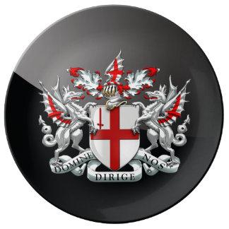 [210]ロンドン-紋章付き外衣市 磁器プレート