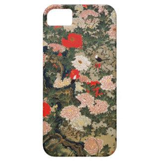 22. 牡丹小禽図、若冲のシャクヤク及び小さい鳥、Jakuchū iPhone SE/5/5s ケース