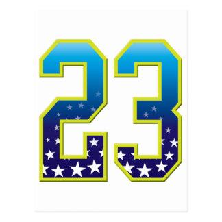 23の年齢の星 ポストカード
