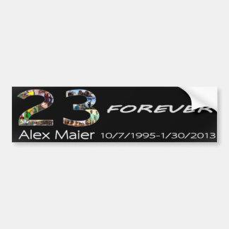 23永久にアレックスMaier バンパーステッカー