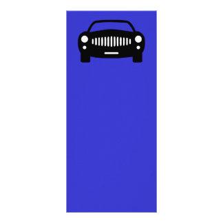 2491黒い車のシルエットの陸上輸送のRA ラックカード
