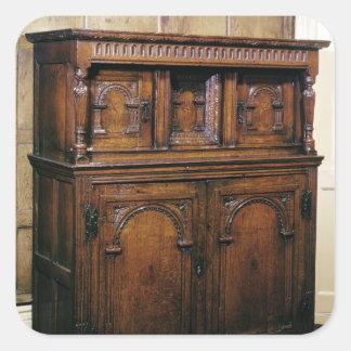 24: ホールの食器棚、カシ、c.1600 スクエアシール
