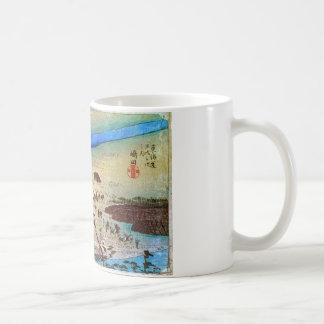 24. 嶋田宿, 広重 コーヒーマグカップ