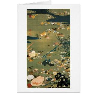 24. 貝甲図、若冲の貝、Jakuchūの日本芸術 カード