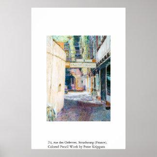 24、通りdes Orfevres、ストラスブール(フランス) ポスター