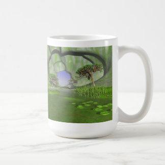 #24-05楽園の洞窟: 緑の浅瀬の庭 コーヒーマグカップ