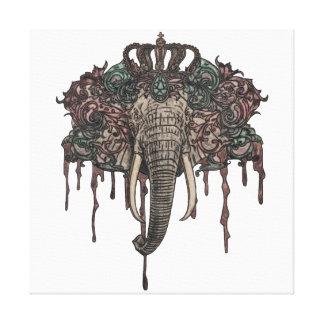24 24のパステル象のキャンバスの芸術のプリントによって キャンバスプリント