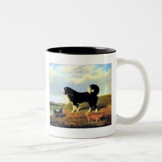 24bスパニエル犬および2匹のノーフォークテリア ツートーンマグカップ
