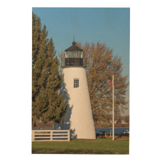 24x36一致ポイント灯台 ウッドウォールアート