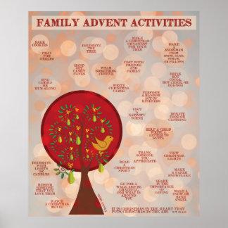 25の家族の出現の活動 ポスター