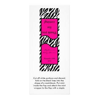 25の真新しい紙マッチのショッキングピンクのシマウマのプリント ラックカード