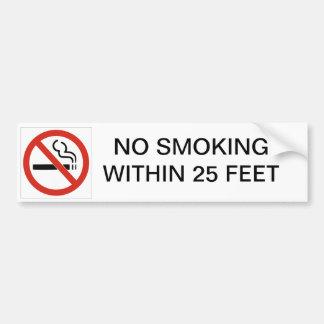 25の足以内に禁煙 バンパーステッカー