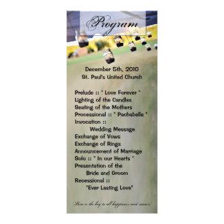 25の4x9結婚式プログラムのメーソンジャーの蝋燭ホールダー ラックカード