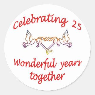 25年を祝うこと ラウンドシール