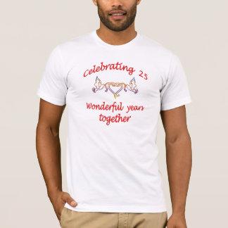 25年を祝うこと Tシャツ