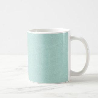 258軽いティール(緑がかった色)青いSPIDERWEBパターン背景W コーヒーマグカップ