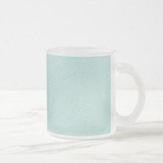 258軽いティール(緑がかった色)青いSPIDERWEBパターン背景W フロストグラスマグカップ