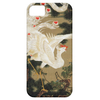 25. 老松白鳳図、若冲のマツ木および中国語フェニックス、Jakuc iPhone SE/5/5s ケース
