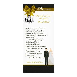 25 4x9結婚式プログラムの軍隊の均一新郎の花嫁 ラックカード