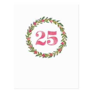 25 Kranz in Pink ポストカード