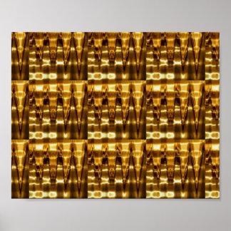 26のタイプの金ゴールドプレートnの形成 ポスター
