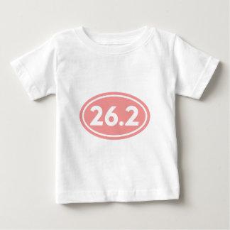 26.2マラソンの楕円形のピンク(#GEO3) ベビーTシャツ
