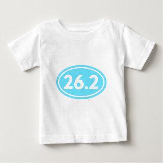 26.2マラソンの楕円形の淡いブルー(#GEO6) ベビーTシャツ