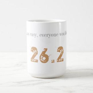 26.2 -それが容易マラソンのマグ コーヒーマグカップ