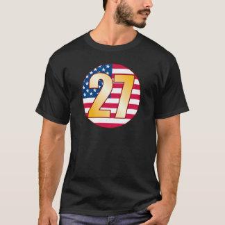 27米国の金ゴールド Tシャツ