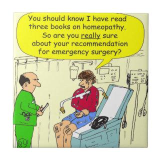 271 homeopathic外科漫画 正方形タイル小