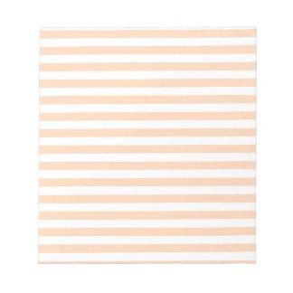 27 -ストライプ-白く、深いモモ薄くして下さい ノートパッド