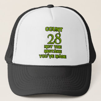28の誕生日のデザイン キャップ