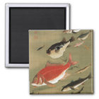 28. 群魚図、若冲のさまざまな魚、Jakuchūの日本芸術 マグネット