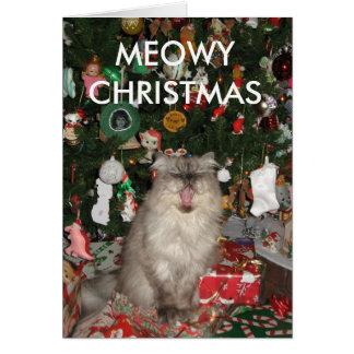 292のMEOWYのクリスマス カード