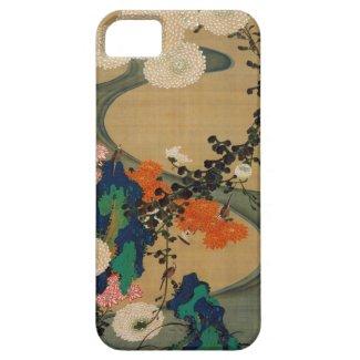 29. 菊花流水図、若冲の菊及び流れ、Jakuchū iPhone 5 ケース