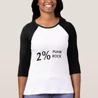 2%のパンクロック Tシャツ