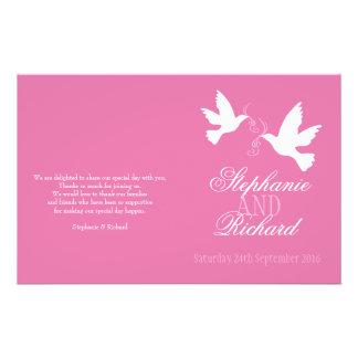 2|白い|鳩|ピンク|リボン|結婚|プログラム
