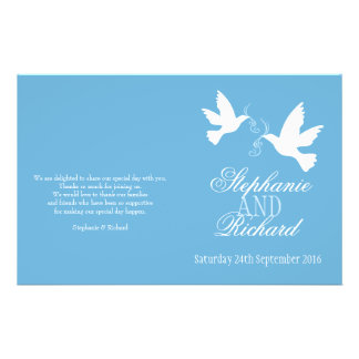 2|白い|鳩|青い|リボン|結婚|プログラム