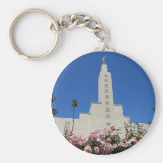 """2.25""""基本的なボタンのKeychainのLAの寺院 キーホルダー"""