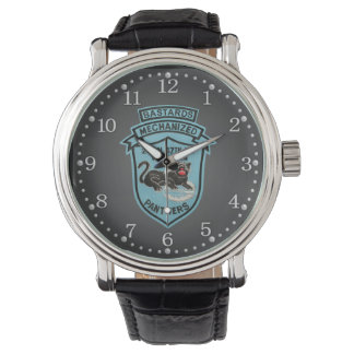 2/47th Inf. ヴィンテージのヒョウの粗悪品パッチの腕時計 腕時計