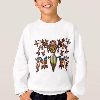 2 Bの景色の服装を飛ばしている蝶女性 スウェットシャツ