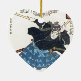 2 BokkenのMusashi Miyamotoの宮本武蔵 セラミックオーナメント