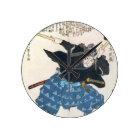 2 BokkenのMusashi Miyamotoの宮本武蔵 ラウンド壁時計
