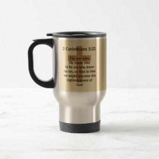 2 Corinthiansの5:21かあなたの聖なる書物、経典のコーヒー・マグ トラベルマグ